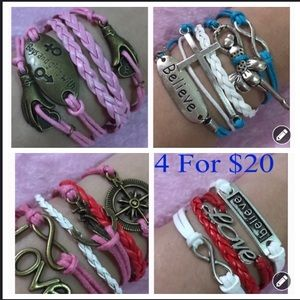 Jewelry - 4 for $20. Multilayered Infinity Bracelet